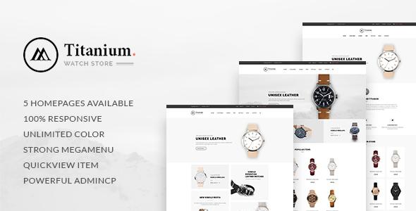 Leo Titanium - eCommerce PSD Template