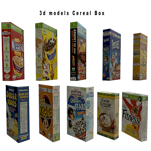 Cereal Box - 3DOcean Item for Sale
