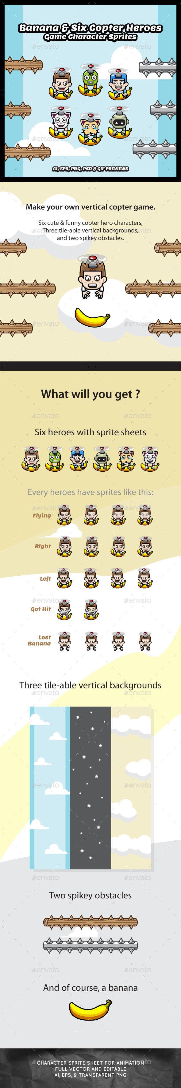 Banana & Six Copter Heroes Game Kit (Game Kits)