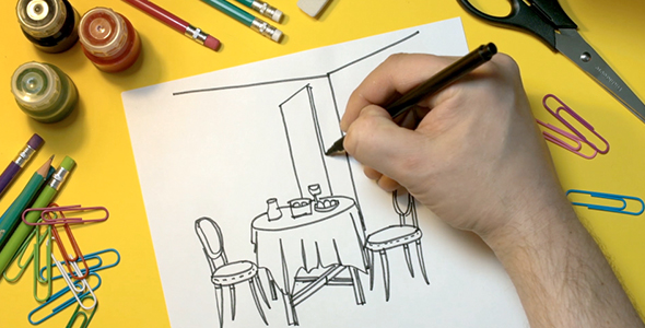 Download Man Draws On a Piece Of Paper Interior nulled download