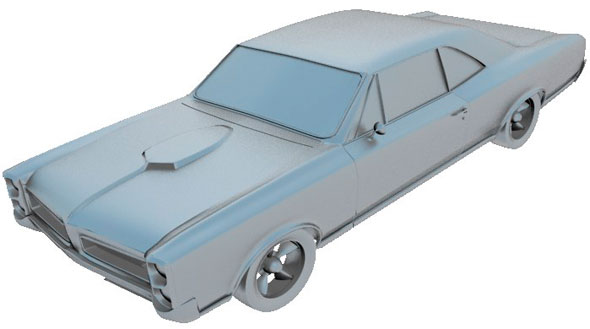 Pontiac GTO 1966 printable - 3DOcean Item for Sale