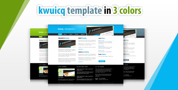 kwuicq html corporate template - 3 colors