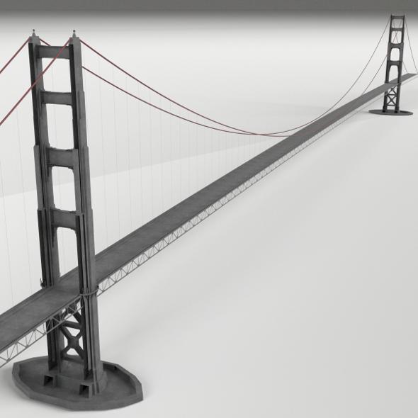 Suspension Bridge - 3DOcean Item for Sale