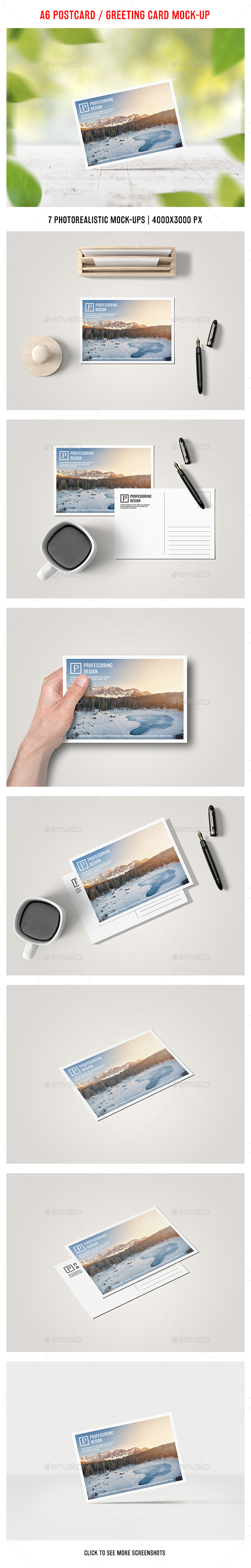 A6 Postcard / Greeting Card Mock-up