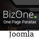 BizOne - One Page Parallax Joomla Template