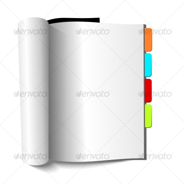 Blank magazine with book-marks - Objects Vectors