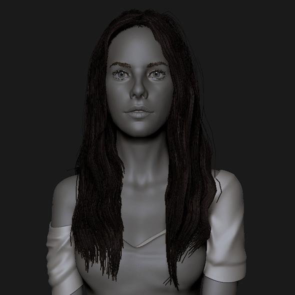 Girl long hair - 3DOcean Item for Sale