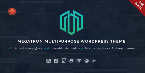 Megatron - Responsive MultiPurpose WordPress Theme