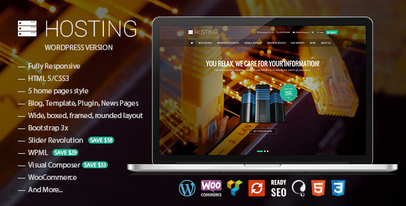 Hosting - Multipurpose WooCommerce Theme