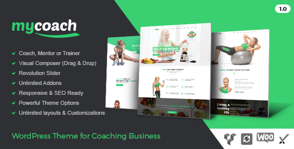 Download My Coach - WP Theme for Health Life Coaching nulled download
