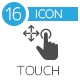 Touch Screen Icons flat icon