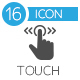 Touch Gesture, Touch Screen Icons