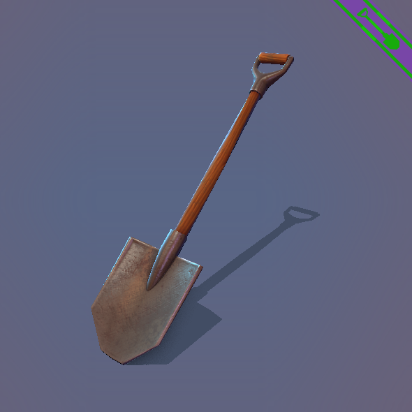 Game ready Shovel - 3DOcean Item for Sale