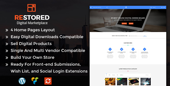Restored MarketPlace – MarketPlace WordPress Theme  (eCommerce) images
