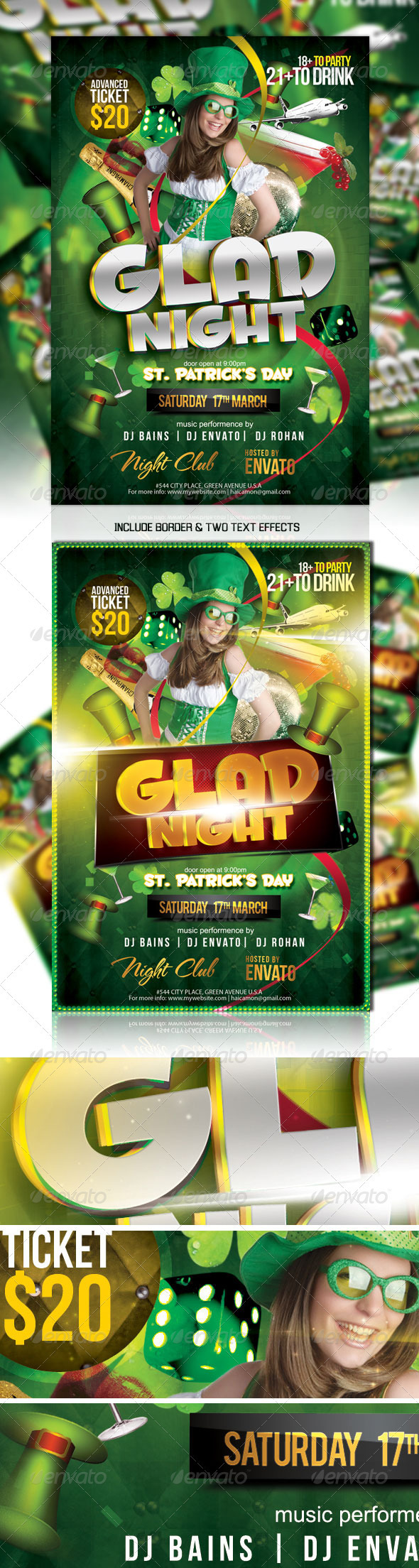 St Patrick's Night Party Flyer Vol_1 - Clubs & Parties Events
