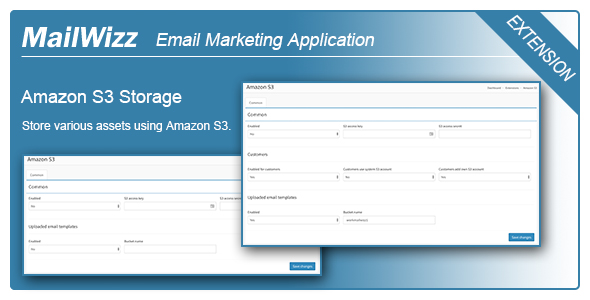 Amazon S3 integration for MailWizz EMA