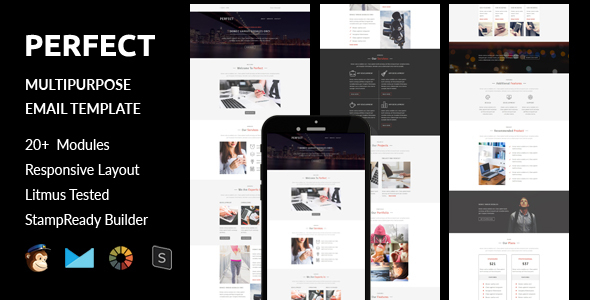 Download Perfect - Multipurpose Responsive Email Template + Online Stampready Builder Access nulled download