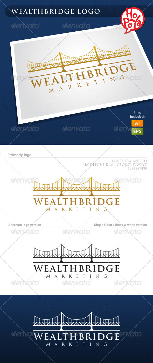 Wealth Bridge Logo - Buildings Logo Templates