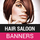 Hair Saloon Banner HTML5