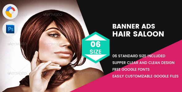 Download Hair Saloon Banner HTML5