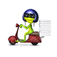 3D Illustration of a Frog Pizza Boy