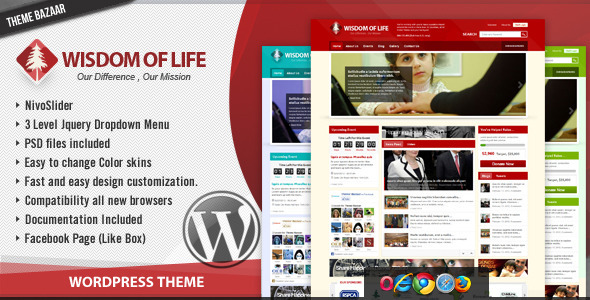 ThemeForest Wisdom Of Life NGO and Charity Theme 1778657
