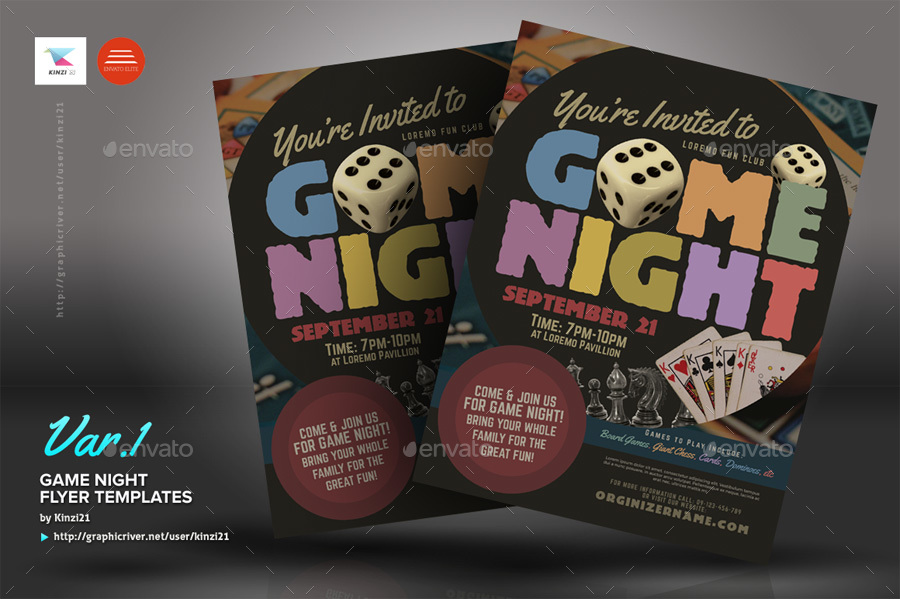 Game Night Flyer Templates by kinzi21 | GraphicRiver