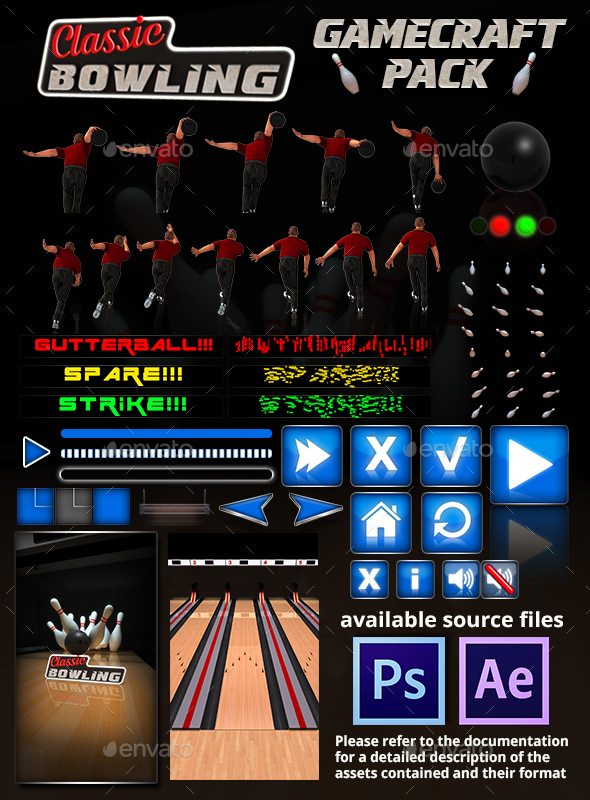 Classic Bowling - Game Assets (Game Kits)