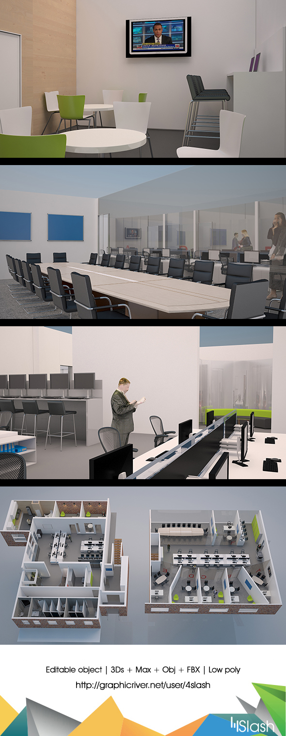 3D Walk through in Office Environment - 3DOcean Item for Sale