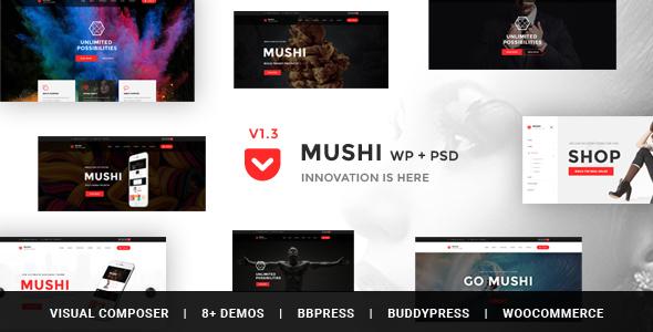 Mushi - Responsive Multi-Purpose WordPress Theme
