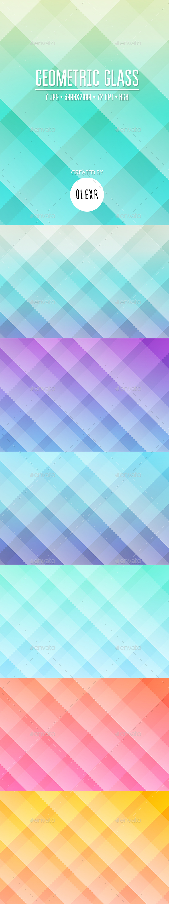 Geometric Glass Backgrounds