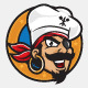 Pirates Kitchen Logo Mascot