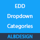 Easy Digital Downloads EDD categories dropdown