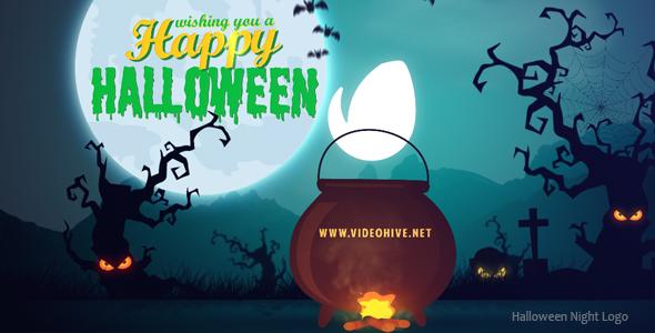 VideoHive Halloween Night Logo 17932873