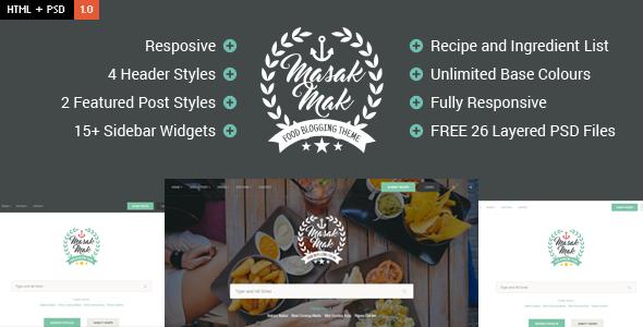 MasakMak - Food & Recipe HTML Template