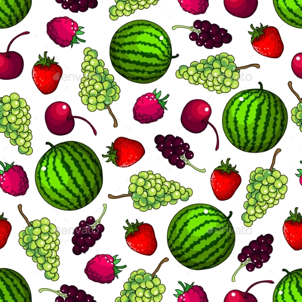Fruits Seamless Pattern Wallpaper Background