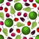 Download Vector Fruits Seamless Pattern Wallpaper Background