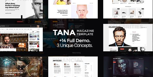 Tana Magazine - PSD Template