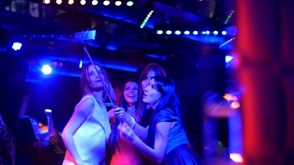 VideoHive Beautiful Girl At The Party Make Selfie Disco Birthday 17936044