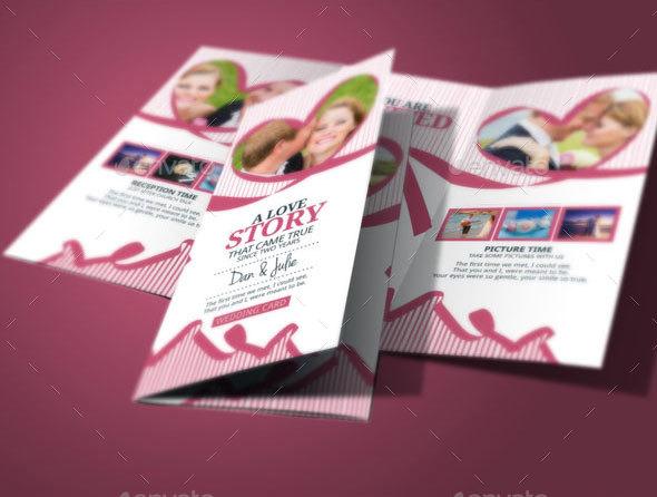 tri fold wedding invitation by blogankids  graphicriver, Wedding invitations