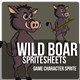 Wild Boar Sprite Character
