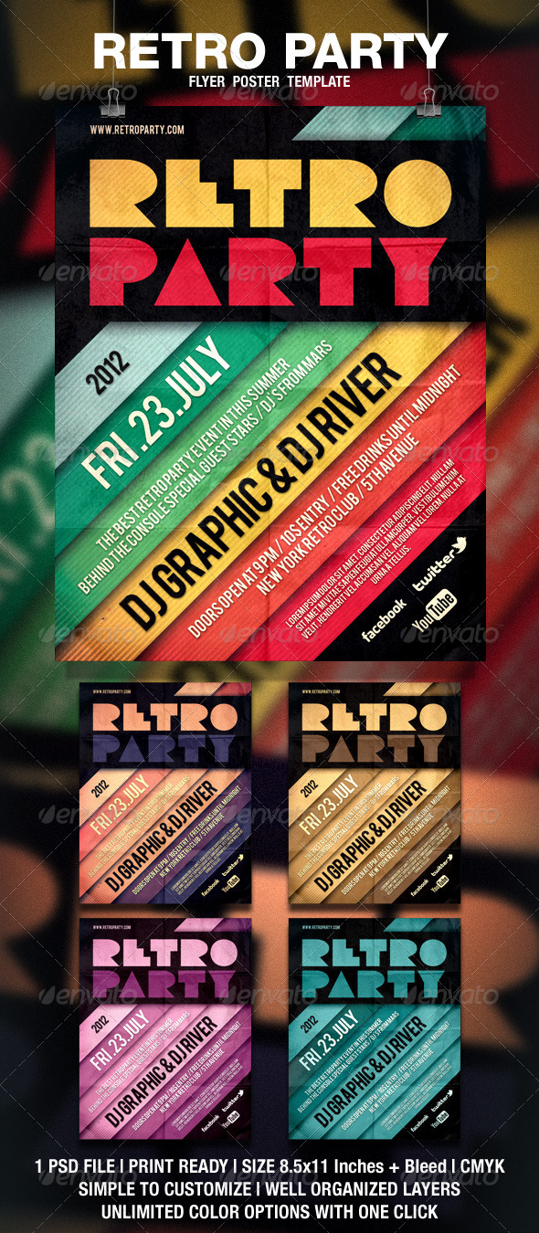 Retro Typography Flyer / Poster - Events Flyers