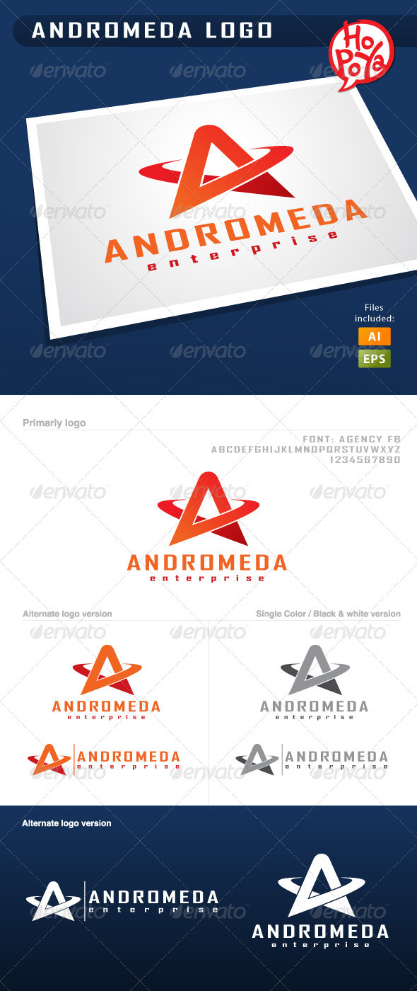 Andromeda Logo - Letters Logo Templates