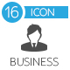 Business Icons Vector Flat Set