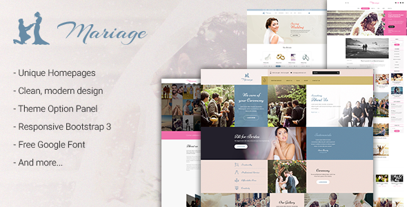 Mariage - Business & Wedding WordPress Theme