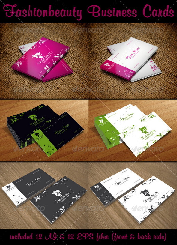 Fashion Beauty Business Cards Graphicriver