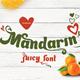 Mandarin Juicy font