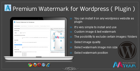 CodeCanyon Premium Watermark for Wordpress Plugin 1779630