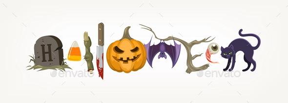 Halloween Holiday Vector Illustration