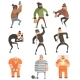 Criminals and Convicts Characters Set